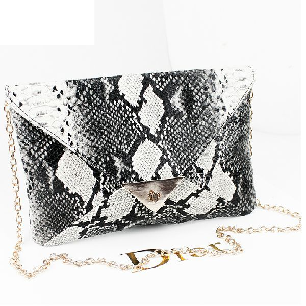 2013 women envelope clutch leather snake print handbag women chain clutch bag handbag shoulder bag-in Clutches from Luggage & Bags on Aliexpress.com