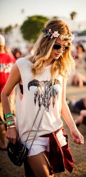 top printed shirt coachella muscle tee t-shirt shirt
