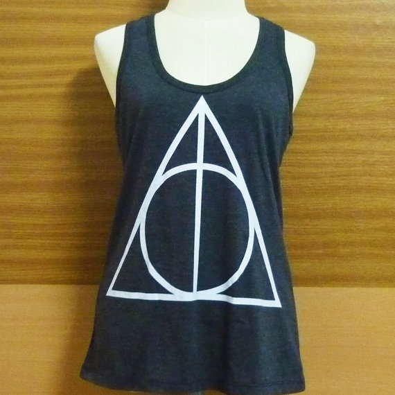 Teen girl shirt harry potter tank top women fashion ladies tee size s m l xl xxl dark grey triangle harry potter shirt women t shirt teen