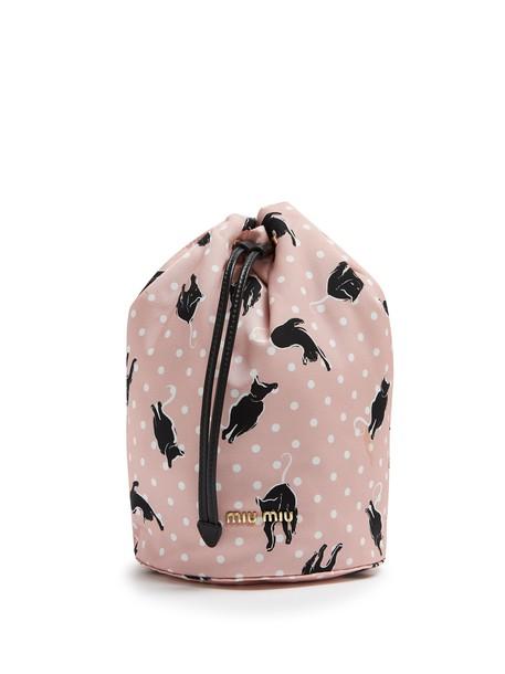 pouch print pink bag