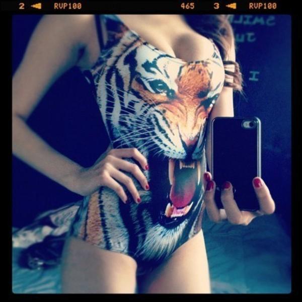 swimwear tiger