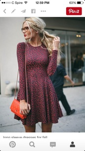 dress,long sleeve dress,blouse,shirt,leopard print,burgundy dress,barefoot blonde,marron cheetah skater  dress,skater dress,burgundy