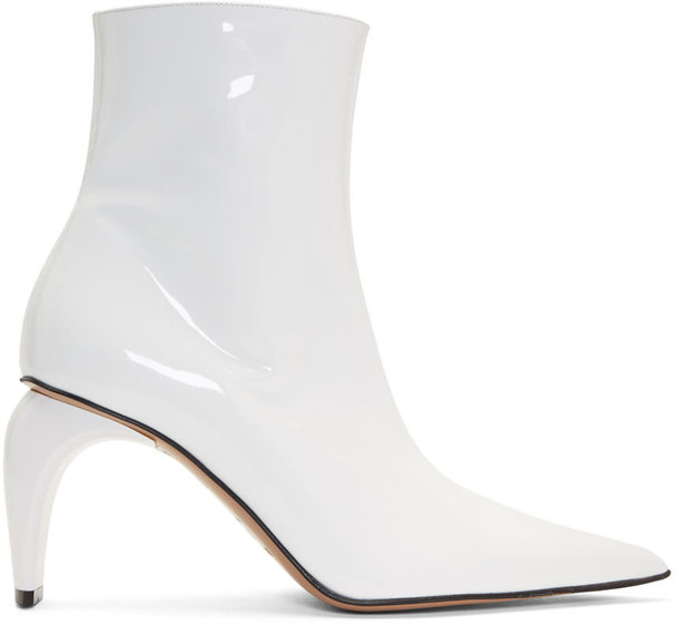 Misbhv vinyl ankle boots white shoes