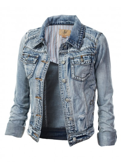 Jtomson - Freedom of Fashion - BACK CROPPED DISTRESSED DENIM JACKET