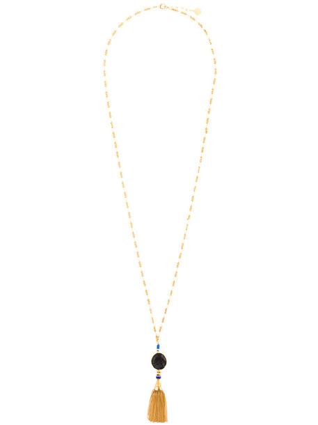 Gas Bijoux women necklace gold grey metallic jewels