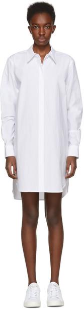 T by Alexander Wang dress shirt dress white