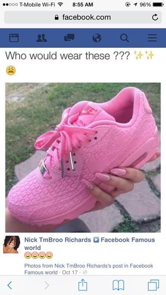 shoes air max nike pink think pink nike air max 90