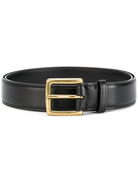 Chloe women belt gold leather black