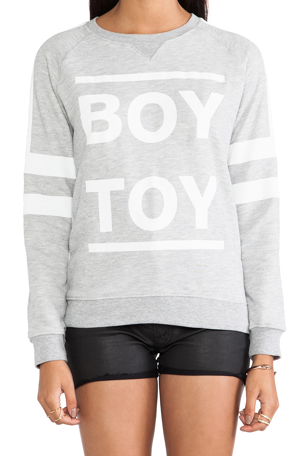 Zoe Karssen Boy Toy Sweatshirt in Grey Heather | REVOLVE