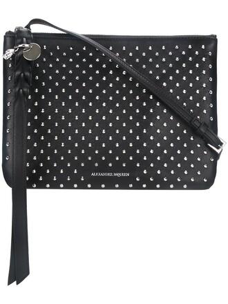 studded women clutch black bag