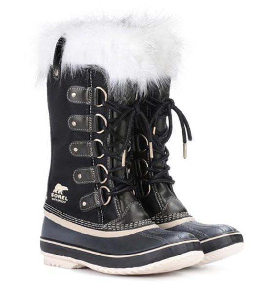 Sorel suede boots suede black shoes