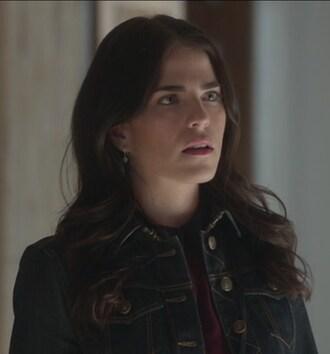 jacket denim karla souza laurel castillo how to get away with murder skirt print top