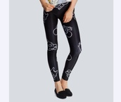 leggings,black,itchy and scratchy,the simpsons,drop dead clothing