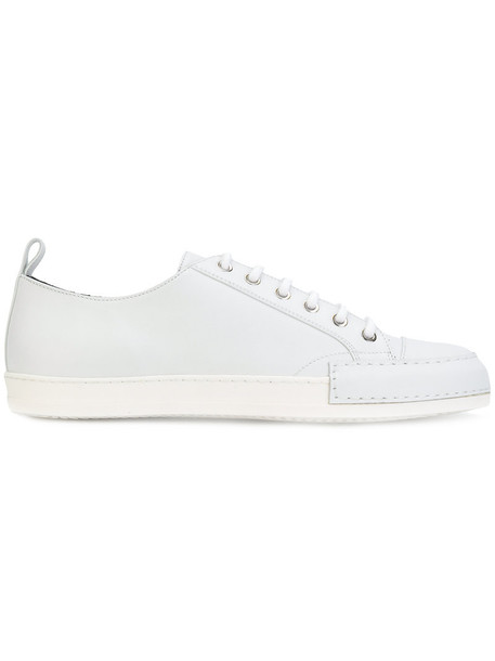 Haider Ackermann women sneakers lace leather white shoes