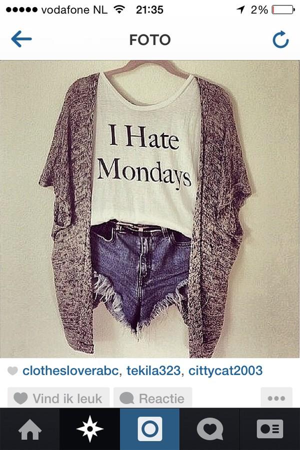cardigan blouse shorts shirt