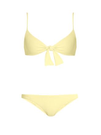 bikini bralette bikini yellow swimwear