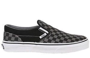 Vans Classic Slip on Men's Sz 9 0 10 0 11 0 Shoe Black Pewter Checkerboard | eBay