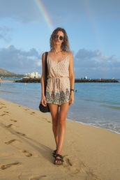 styling my life,blogger,romper,sunglasses,shoes,jewels,summer outfits,beach,sandals,shoulder bag