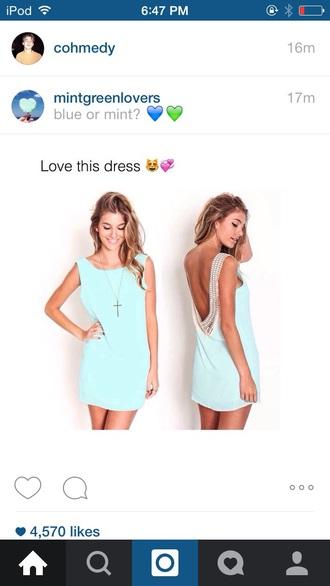 dress mint dress beautiful green dress