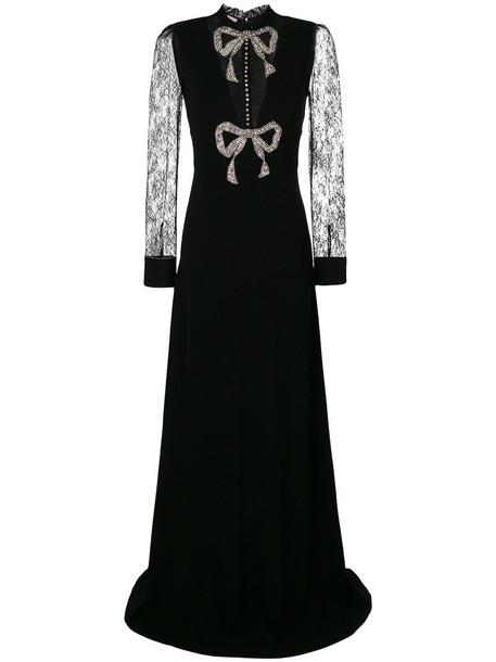 gucci dress bow dress bow women spandex black silk