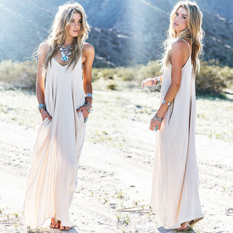 dress trendy maxi dress summer dress summer outfits necklace
