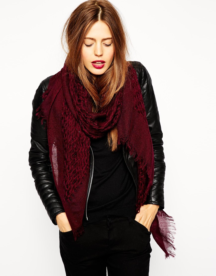 ASOS Wool Mix Open Weave Scarf at asos.com
