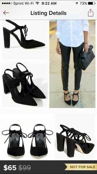 shoes black minimal heels minimalist zara laced up heels