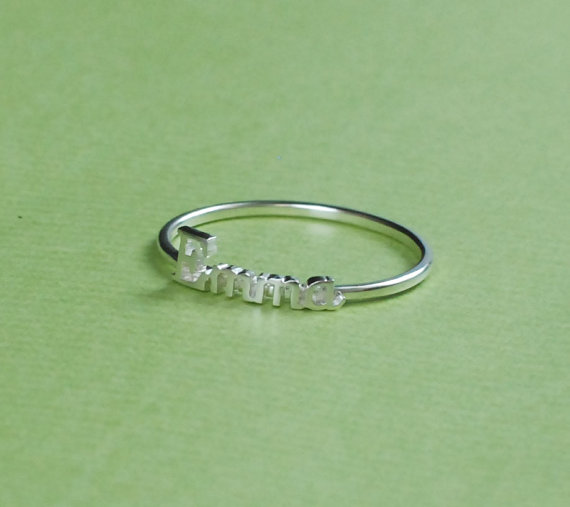 Handcrafted personalized name ring  personalized gift  by bestyle