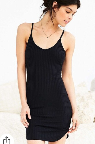 dress cotton black dress