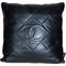 Rare chanel leather throw pillow