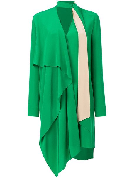 Fendi dress women plastic silk green