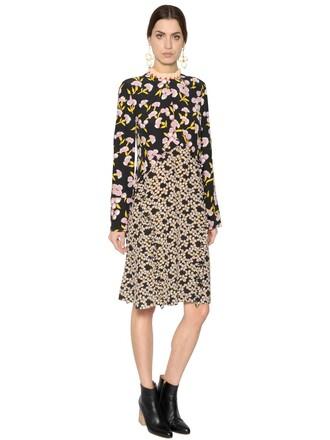 dress floral silk