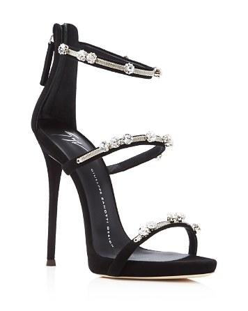 Giuseppe Zanotti Coline Triple Strap High Heel Sandals   Bloomingdale's