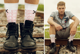 socks f.u. odd sox fuck you have a nice day sock game fuck off style fashion dope dope shit trendy trendsetter trendsetting menswear hipster menswear