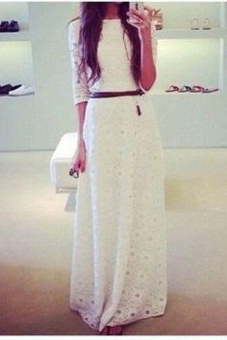 dress white long long dress shoeshop