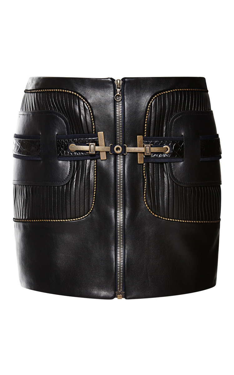 Leather mini skirt by anthony vaccarello