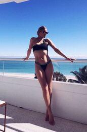 swimwear,bikini bottoms,bikini top,bikini,rosie huntington-whiteley,model off-duty,instagram