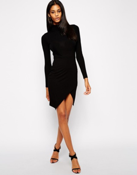 asos asos dress asos dresses blackdress black dresses asymetric dress short dress little black dress
