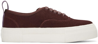 sneakers suede burgundy shoes