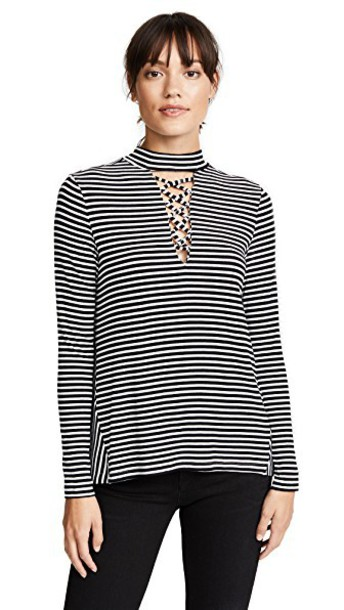 BB Dakota top striped top black
