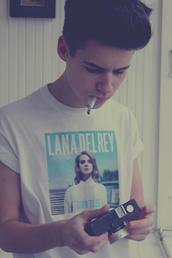 shirt,lana del rey,lana del rey shirt,white shirt,print,mens t-shirt