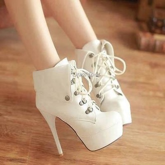 shoes white heels high heels girly classy