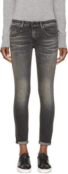 R13 jeans skinny jeans black