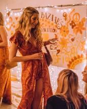 dress,orange dress