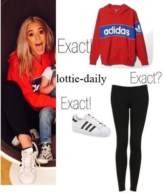 jacket red coat lottie tomlinson sweashirt adidas jacket adidas sweater