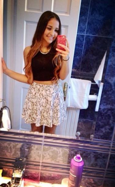 skirt shoes shirt