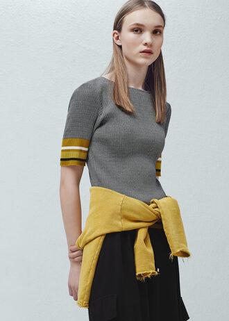 top knitwear mango mustard