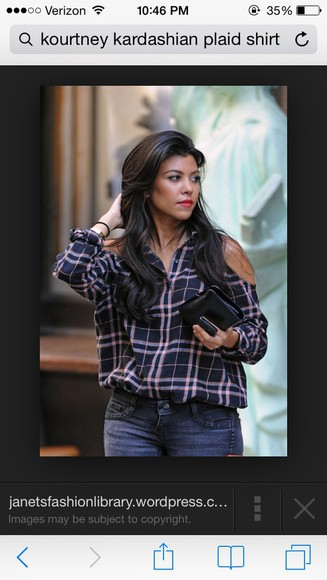 flannel shirt kourtney kardashian