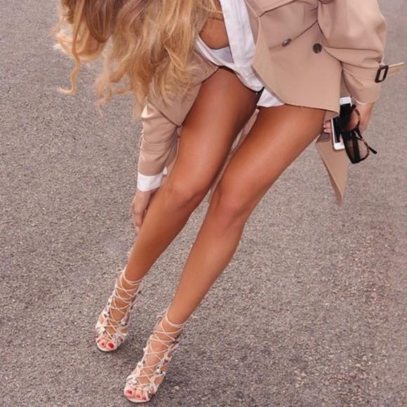 jacket lace up shoes heels pumps strappy sandals sandals