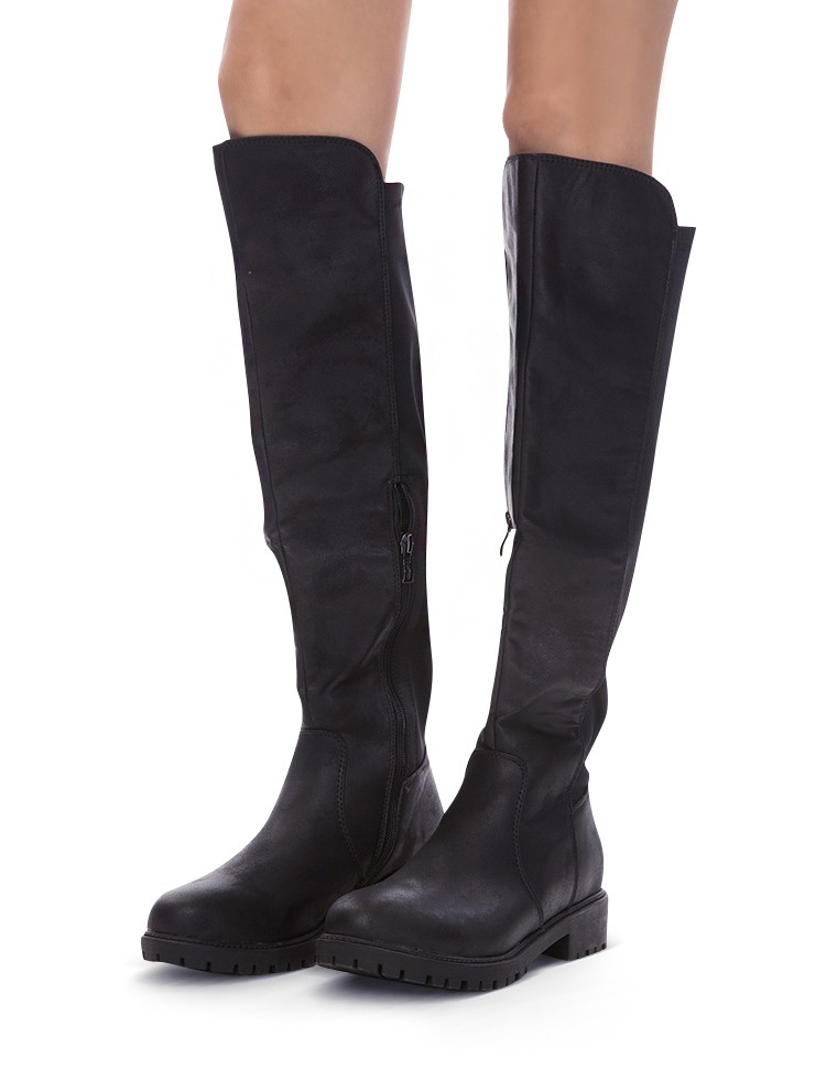 1a48bfe9cf4ca Black Tall Riding Boots - Cheap Knee High Boots - $86